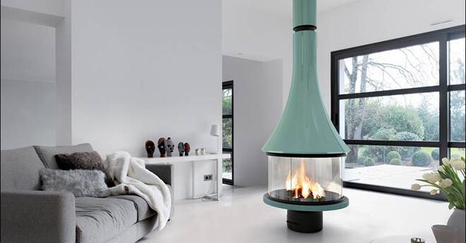 Po le chemin e po le bois - Poele cheminee design ...